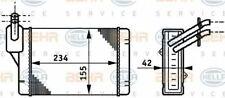 Radiator Heat Exchanger 8FH351311-011 / AH 71 000S by Behr - Single