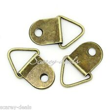 25 x Triangle Picture FRAME Hooks Bronze frame fixings HANGERS / 1st class post
