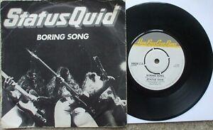 Status Quid - Boring Song / Dead Cicada - Excellent - 45 + PS