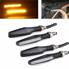 4 pcs Bendable Motorcycle LED Turn Signal Light Indicator Blinker Lamp Amber
