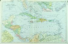 1891 Caribbean North America Antique Map