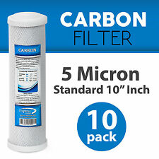 """10 Pack Express Water 10"""" Carbon Block Coconut Shell Filter Cartridge 5 Micron"""
