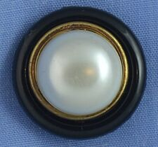 21mm Black / Pearl Shank Button (x 2 buttons)