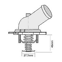 TRIDON Std Thermostat For Honda CR-V MY07 02/07-12/10 2.4L K24Z1