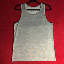 Lululemon Mens Heathered Gray Metal Vent Tech Tank Top Yoga Run - Size Small S