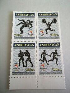 2000 Azerbaijan Olympic Games, Sydney u/m Mi.471/4 Block of 4. T96