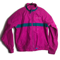 Vintage High Seas Boeing Aircraft Womens M Pink Fuschia Teal Nylon Jacket Coat