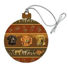 Hunting Dog Breeds Paw Prints Wood Christmas Tree Holiday Ornament