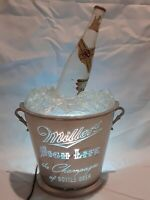 Vintage Miller High Life Lighted Bucket/Bottle Beer Sign Light Display