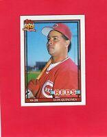 1991 Topps baseball Cincinnati Reds #581 LUIS QUINONES