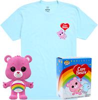 Cheer Bear Flocked Funko Pop! Vinyl + T-shirt New in Box