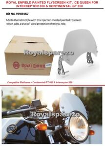 """Royal Enfield """"PAINTED FLYSCREEN KIT, ICE QUEEN"""" For Interceptor 650 & GT 650"""
