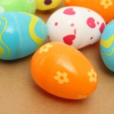 12Pcs Empty Mix Plastic Easter Eggs Hunt Gifts Home Decoration Kids Toys YA9C