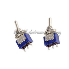10Pcs MTS-102 3-Pin 6MM Mini SPDT ON-ON 6A 125VAC Toggle Switches New