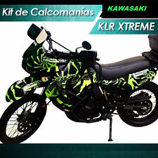 DECAL KLR 650 XTREME, MOTORCYCLE DECAL STICKER ,KAWASAKI, 2008-2015 , CALCOMANIA