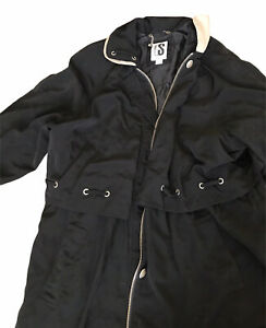 CS Signature Womens  Zipper Snap Removable Lining Trench Coat Jacket Size 2X