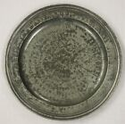 CHARLES II PEWTER TRIPLE REEDED HAMMERED PLATE BY THOMAS SMITH  CIRCA 1680