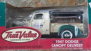 ERTL COLLECTIBLES 1947 DODGE CANOPY DELIVERY LIMITED EDITION DIE-CAST METAL BANK