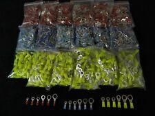 900 PK 10-12 14-16 18-22 GAUGE NYLON RING TERMINALS 50 PCS #6 #8 #10 1/4 5/16 38