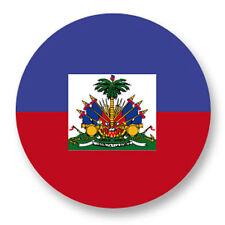 Magnet Aimant Frigo Ø38mm Drapeau Flag Echarpe Maillot Haiti HT Port-au-Prince