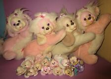 Vintage Hasbro Puppy Surprise Mom Momma Mama Dog Baby Plush Pink Puppies Lot!