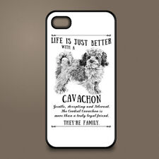 Cavachon dog phone case cover Apple iPhone Samsung Galaxy ~ Personalised
