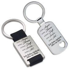 """Lieblingsmensch® Schlüsselanhänger: """"Seine Augen ... seine Stimme ..."""""""