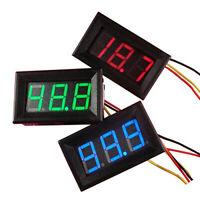 KQ_ Mini DC 0-30V Voltmeter LED Display Panel Car Motor Digital Voltage Meter