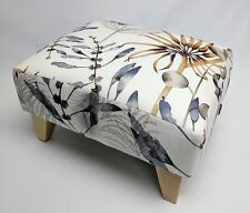 Footstool pouffe Harlequin Anthozoa Postelia Light wood British made
