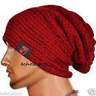 Men Long Slouch Beanie Knit Baggy Oversized Skull Cap Stripe Winter Hat B724-2