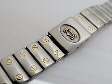 A10- CARTIER DE SANTOS GALBEE St./Gold Armband für Herren Uhr. Anstösse 18 mm