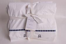 "Pottery Barn Pearl Embroidered sheet set, Full, twilight blue, Monogram ""G"""