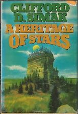 A HERITAGE OF STARS ~ Clifford D Simak 1977 HC DJ BCE
