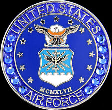 Magnetic Swarovski Crystal Ball Marker US Air Force