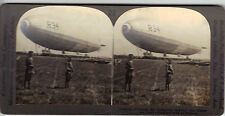 1919 Dirigible Airship R34 Mineola LI Keystone Stereoview Old Picture