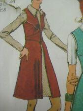 Vintage Simplicity9505 Midriff Closing Vest Mini Dress Sewing Pattern Women Sz10