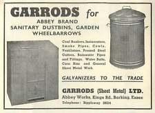 1953 Garrods Dustbins Abbey Works Barking Essex Ad