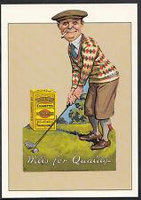 Advertising Postcard - Wills Gold Flake - Golf Series - Robert Opie  DP165