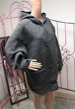 LL Bean Vintage Hooded Wool Coat Handmade in Austria Gray