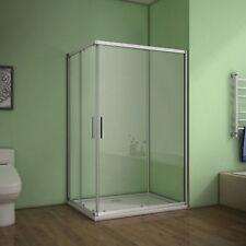 120x80x185cm Duschabtrennung Schiebetür Duschkabine Duschwand Eckeinstieg Dusche