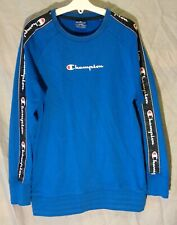 Boys Girls Champion Royal Blue Logo Front Sleeve Jumper Sweater Age 11-12 Years