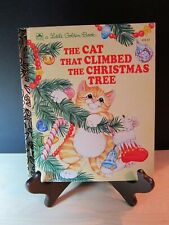 Orange Tabby Cat The Cat That Climbed the Christmas Tree Little Golden Book Vtg