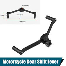 1PC Motorcycle Dual Head Gear Shift Lever Footrest Pedal Shifter Black Aluminum