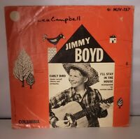 78 JIMMY BOYD Columbia 39927 Early Bird & I'll Stay in The House VG+