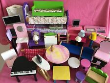 Huge Bundle of  1/6 Scale Wooden Dolls House Mixed Furniture