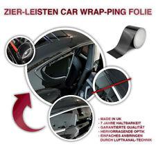 Zier-leisten Chrom-leisten Schwarz Glanz Car wrap-ping Folie 10m x 8cm Luftkanal