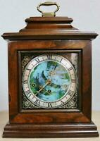 Rare Vintage German Triple Musical Chime Mahogany Georgian Style Bracket Clock