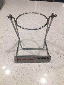 Vintage Large Smirnoff Vodka Tilting Stand for 1/2 Gallon Bottle