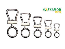 Falconry Swivels, Double Bend Swivel / Bell Shape 100% Stainless Steel All Sizes