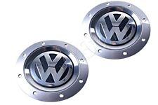 Genuine Volkswagen Golf Jetta Caddy DAVOS Rim Hub Caps 2 Pcs 1K0601149EQZQ